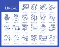 Línea iconos del vector en un estilo moderno Foto de archivo libre de regalías
