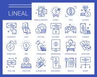 Línea iconos del vector en un estilo moderno Imagenes de archivo
