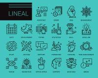 Línea iconos del vector en un estilo moderno Fotografía de archivo libre de regalías