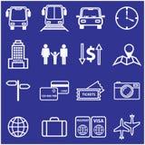 Línea iconos del viaje y de las vacaciones fijados Vector Imágenes de archivo libres de regalías