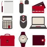 Línea iconos fijados iconos para el negocio, gestión Imágenes de archivo libres de regalías