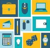 Línea iconos fijados iconos para el negocio, gestión Fotografía de archivo libre de regalías