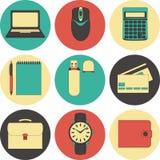 Línea iconos fijados iconos para el negocio, gestión Foto de archivo libre de regalías