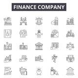 Línea iconos, muestras, sistema del vector, concepto de la sociedad financiera del ejemplo del esquema libre illustration