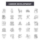 Línea iconos, muestras, sistema del vector, concepto del desarrollo de carrera del ejemplo del esquema libre illustration