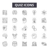 Línea iconos, muestras, sistema del vector, concepto linear, ejemplo del concurso del esquema stock de ilustración