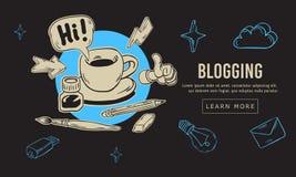 Línea incompleta dibujada mano artística Blogging Art Style Drawings Illustrations Icons de la historieta y diseño de los símbolo Imagen de archivo libre de regalías