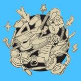 Línea incompleta dibujada mano artística Blogging Art Style Drawings Illustrations Icons de la historieta y diseño de los símbolo Fotos de archivo