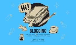 Línea incompleta dibujada mano artística Blogging diseño de la historieta de Art Style Drawings Illustrations Icons de relacionad Imágenes de archivo libres de regalías