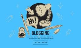 Línea incompleta dibujada mano artística Blogging diseño de la historieta de Art Style Drawings Illustrations Icons de relacionad Foto de archivo libre de regalías