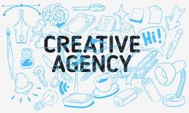 Línea incompleta dibujada mano artística creativa diseño de la historieta de la agencia de Art Style Drawings Illustrations Icons Imágenes de archivo libres de regalías