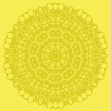 Línea inconsútil ornamental amarilla modelo Foto de archivo libre de regalías