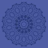 Línea inconsútil ornamental azul modelo Fotos de archivo