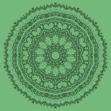 Línea inconsútil ornamental verde modelo Imagen de archivo