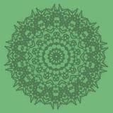 Línea inconsútil ornamental verde modelo Fotografía de archivo libre de regalías