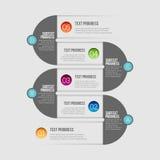 Línea Infographic del zigzag Imágenes de archivo libres de regalías