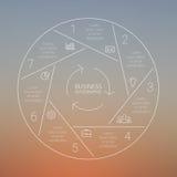 Línea infographic, gráfico, diagrama del círculo blur libre illustration