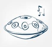 Línea instrumento del bosquejo de la caída de música del diseño del vector ilustración del vector