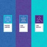 Línea justicia Patterns Set de la ley Foto de archivo libre de regalías