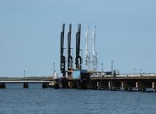 Línea líquida de la costa este del gas natural Fotos de archivo