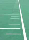 Línea lateral del campo de fútbol Fotografía de archivo libre de regalías