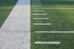 Línea lateral del campo de fútbol Imagenes de archivo