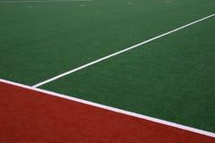 Línea lateral del hockey foto de archivo