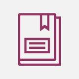 Línea libro del icono Imagen de archivo