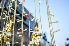 Línea ligera de la Navidad Imagenes de archivo