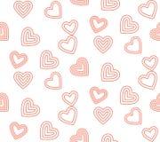 Línea linda fondo del modelo del día de San Valentín Foto de archivo