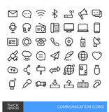 Línea linear iconos de los medios de comunicación Imagen de archivo libre de regalías