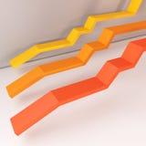 Línea llana de la naranja del informe Fotografía de archivo