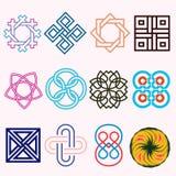 Línea Logo Set bajo foto de archivo libre de regalías