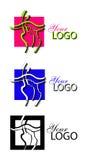 Línea logotipo del arte Foto de archivo libre de regalías