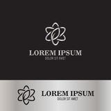 Línea logotipo del extracto de la flor Imagen de archivo