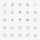 Línea mínima iconos del web en el fondo blanco Fotografía de archivo libre de regalías