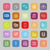 Línea móvil iconos planos stock de ilustración