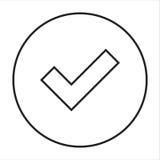 Línea marca de cotejo del icono Fotos de archivo