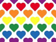 Línea modelo inconsútil de LGBT del corazón de lesbiano, de homosexual, de bisexual y transexual libre illustration