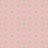 Línea modelo inconsútil del polígono de la simetría en colores pastel de la flor ilustración del vector
