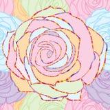 Línea modelo inconsútil en colores pastel de Rose Fotos de archivo