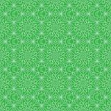 Línea modelo inconsútil verde en colores pastel de la simetría de la luna de la estrella del Ramadán libre illustration