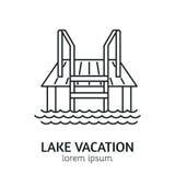 Línea moderna plantilla del logotipo de la sauna del estilo Imágenes de archivo libres de regalías