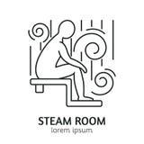 Línea moderna plantilla del logotipo de la sauna del estilo Imagen de archivo