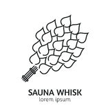 Línea moderna plantilla del logotipo de la sauna del estilo Imagen de archivo libre de regalías