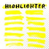 Línea movimientos del cepillo del highlighter del vector libre illustration