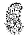 Línea negra diseño floral adornado del arte, ucraniano Imagenes de archivo