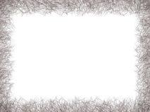 Línea negra frontera de dibujo del extracto en el fondo blanco aislado stock de ilustración