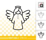 Línea negra simple colgante icono del ángel del vector libre illustration