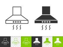 Línea negra simple icono de la capilla de cocina del vector libre illustration